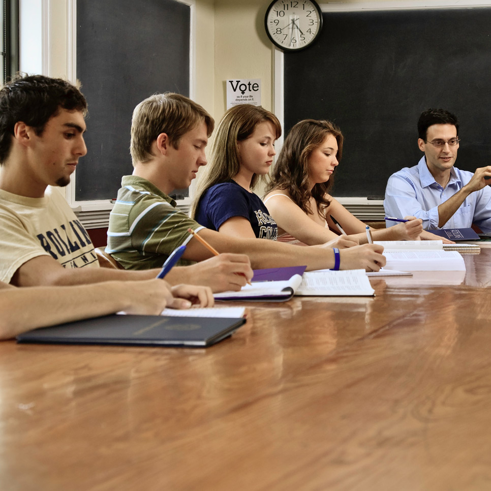 Rollins students in classroom